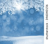 winter landscape with...   Shutterstock . vector #346040156