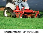 mowing the lawn | Shutterstock . vector #346048088