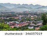 view of luang prabang  laos...   Shutterstock . vector #346057019