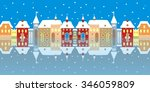town in winter   Shutterstock . vector #346059809