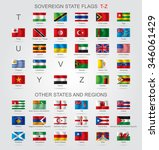 set of world sovereign state... | Shutterstock .eps vector #346061429