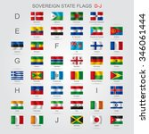 set of world sovereign state... | Shutterstock .eps vector #346061444