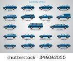 car body styles.  | Shutterstock .eps vector #346062050