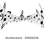 vector musical notes staff... | Shutterstock .eps vector #34606246