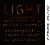 alphabet of lights on dark... | Shutterstock . vector #346071404