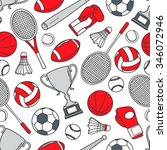 hand drawn seamless pattern... | Shutterstock .eps vector #346072946