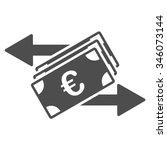 euro money transfer vector icon.... | Shutterstock .eps vector #346073144