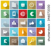 vector business icons set. | Shutterstock .eps vector #346073330