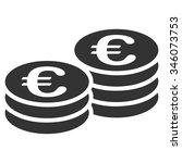 euro coins vector icon. style...   Shutterstock .eps vector #346073753
