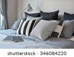 stylish bedroom interior design ... | Shutterstock . vector #346084220