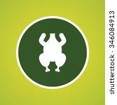 chicken icon | Shutterstock .eps vector #346084913