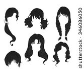 hair styling for woman drawing... | Shutterstock .eps vector #346086050