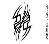 tattoo tribal vector designs.... | Shutterstock .eps vector #346088630