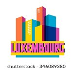 luxembourg in europe is a...   Shutterstock .eps vector #346089380