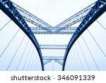 the night of modern bridge  | Shutterstock . vector #346091339