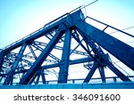 support above the bridge  steel ... | Shutterstock . vector #346091600