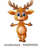 cartoon deer presenting | Shutterstock .eps vector #346094504
