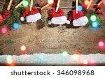 Santa Claus Hats Hanging On...