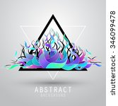 vector abstract background with ... | Shutterstock .eps vector #346099478
