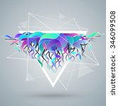 vector abstract background with ... | Shutterstock .eps vector #346099508