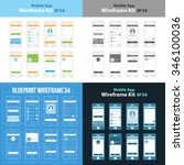 mobile app wireframe ui kit 34. ...