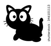 vector illustration of cat | Shutterstock .eps vector #346101113