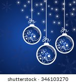 new year's blue background with ... | Shutterstock .eps vector #346103270