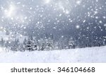 trees covered with hoarfrost... | Shutterstock . vector #346104668