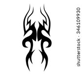 tribal tattoo vector design... | Shutterstock .eps vector #346109930