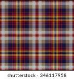 knitted plaid tartan pattern    Shutterstock .eps vector #346117958