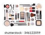 makeup cosmetics and brushes on ... | Shutterstock . vector #346122059