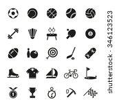 sports and gymnastics vector... | Shutterstock .eps vector #346123523