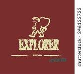 explorer vector with backpacker ...   Shutterstock .eps vector #346123733