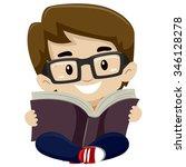 vector illustration of a kid... | Shutterstock .eps vector #346128278