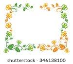 horizontal decorative frame... | Shutterstock .eps vector #346138100