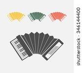 accordion icon   Shutterstock .eps vector #346144400