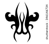 tattoo tribal vector designs.... | Shutterstock .eps vector #346146734