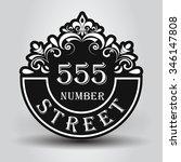 vintage styled house nameplate