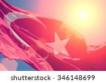 Turkish Flag On The Background...