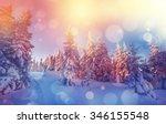 majestic winter landscape... | Shutterstock . vector #346155548