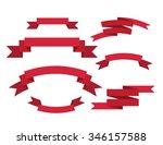 banner ribbons vector set  | Shutterstock .eps vector #346157588