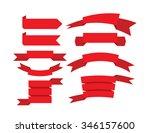 banner ribbons vector set  | Shutterstock .eps vector #346157600