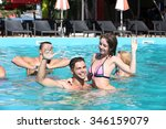young people having fun in the... | Shutterstock . vector #346159079