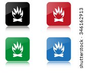 bonfire    color vector icon ... | Shutterstock .eps vector #346162913