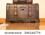 Antique Trunk Coated With Iron...