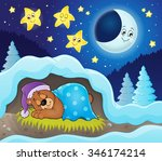 sleeping bear theme image 3  ... | Shutterstock .eps vector #346174214