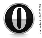 3d silver circle number 0 zero... | Shutterstock . vector #346175339