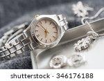 closeup classic woman... | Shutterstock . vector #346176188