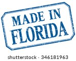 florida   made in blue vintage... | Shutterstock .eps vector #346181963