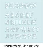 shadow outline alphabet set | Shutterstock .eps vector #346184990